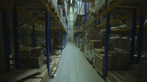 Time lapse of people working in warehouse Footage