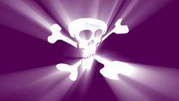 pirate flag animation with volumetric light effect Animation