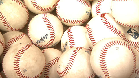 Baseballs Close Up stock footage