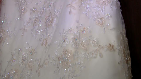 Bridal Dress On Hanger stock footage