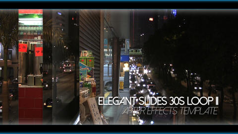 Elegant Slides 30s Loop II - After Effects Template After Effects Template