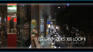 Elegant Slides 30s Loop II stock footage
