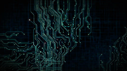 Circuit Board Data Transfer Background Loop Animation