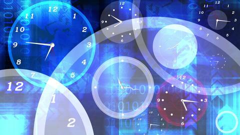 Clocks Layered Animation