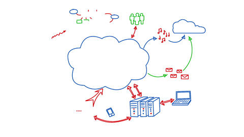 Cloud Data Transfer Animation