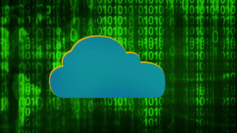 Data Cloud Background Green Animation