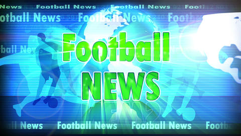 Football News stock footage