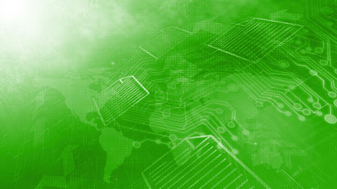 International Data Transfer Background Green Animation