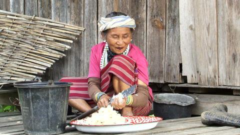 Karen Woman Preparing Food Footage