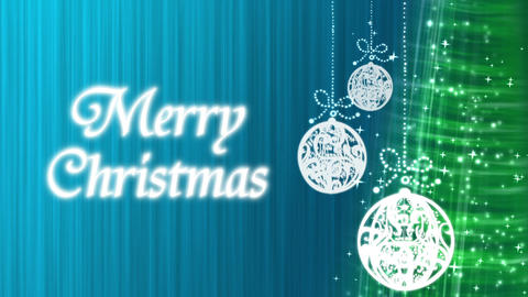 Merry Christmas Decorations Blue Animation