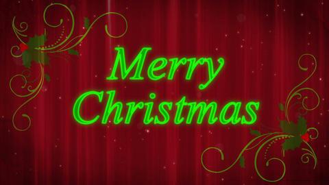 Merry Christmas Holly Flourish Animation