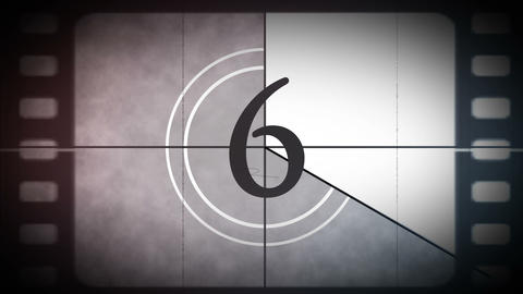 Movie Film Countdown stock footage