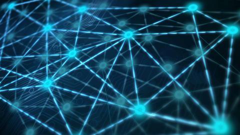 Network Matrix Glow Stock Video Footage