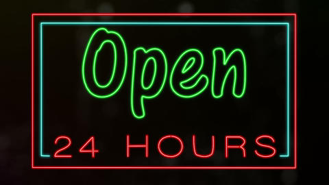 Open 24 Hours Animation