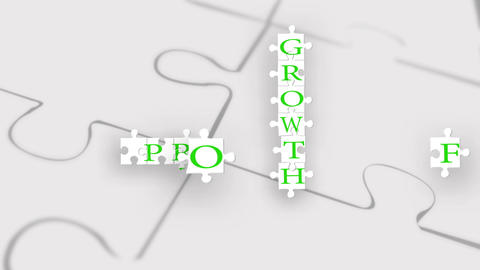 Profit Loss Jigsaw stock footage