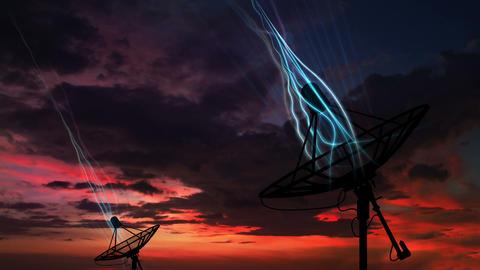 Satellite Dish Data Animation