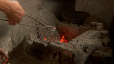 Small Furnace stock footage