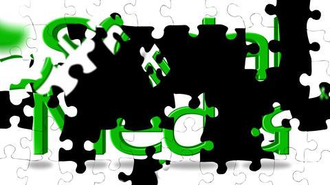Social Media Puzzle Footage