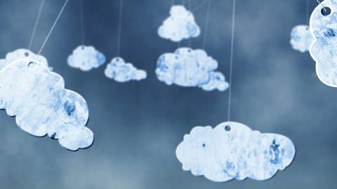 Swinging Clouds stock footage