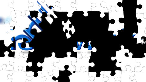 Teamwork Puzzle stock footage