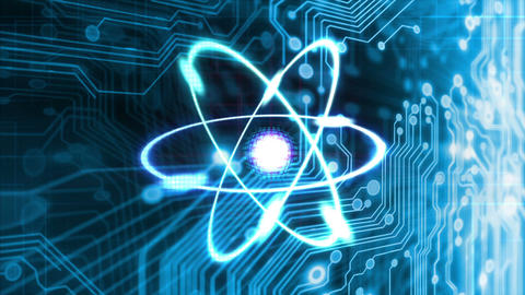 Technology Atom stock footage
