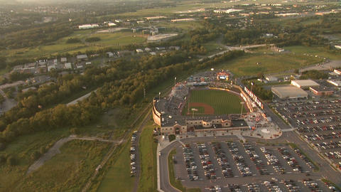 Baseball Field Aerial 2 Footage