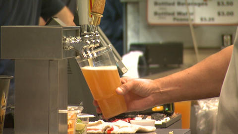 Beer Concession Stand stock footage