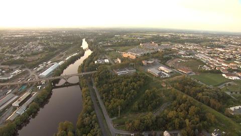 Bethlehem Steel Aerial River Footage