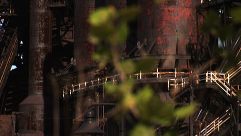 Bethlehem Steel Blast Furnaces Close Up stock footage