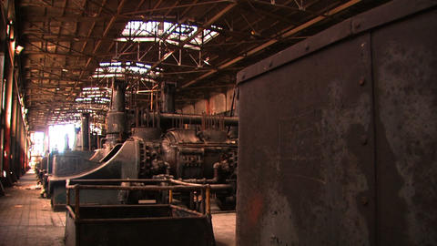 Bethlehem Steel Inside Factory 2 stock footage