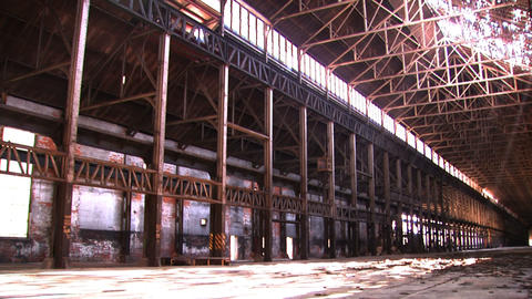 Bethlehem Steel Ruins Of Factory 1 stock footage