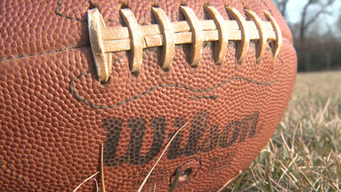 Football 4 Closeup stock footage