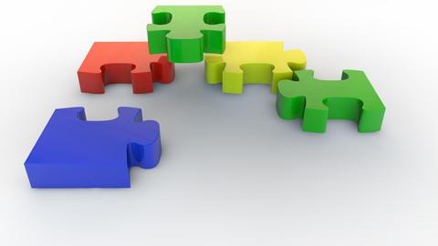 Puzzle falling 1 Animation