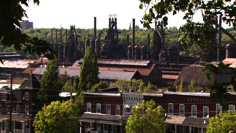 Bethlehem Steel Plant stock footage