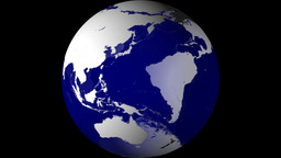 Breaking News Globe, Blue w/ Alpha (24fps) Animation
