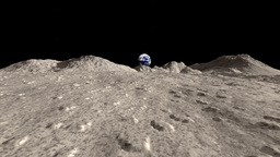 Moon landscape animation stock footage Animation