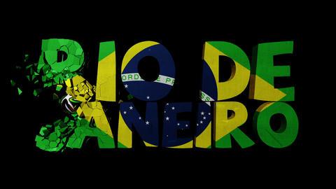 Rio de Janeiro Text Shatter Matte Fill Transition Animation