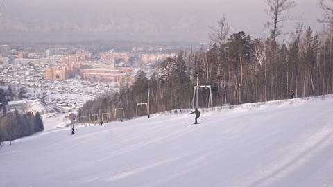 Divnogorsk Skiing 11 Stock Video Footage