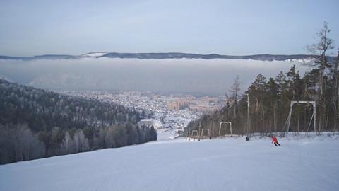 Divnogorsk Skiing 15 Footage