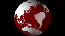 Breaking News Globe, Red w/ Alpha (25fps) Animation