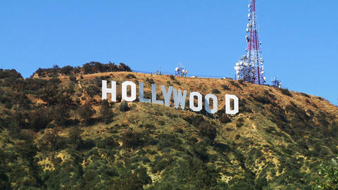 Hollywood Sign, Zoom In Footage