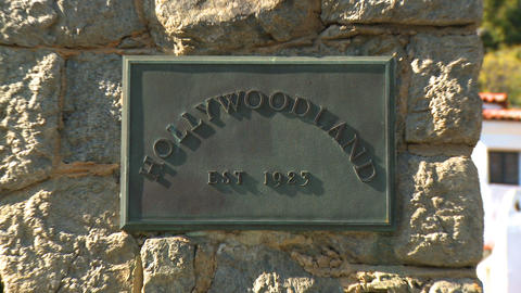 Hollywoodland Plaque Quick Zoom Footage