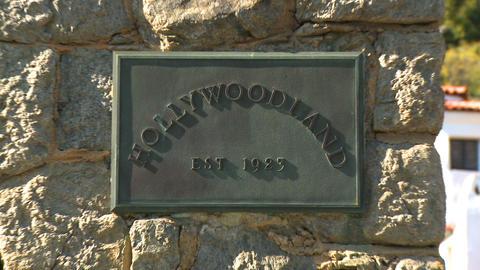 Hollywoodland Plaque Quick Zoom Footage