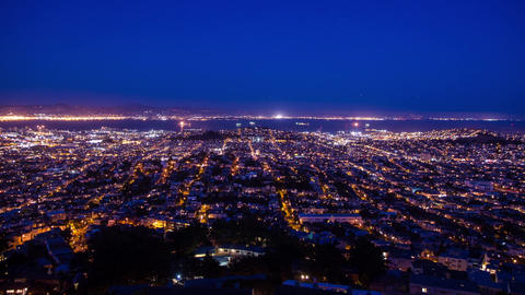 Cityscape Day to Night time lapse Footage