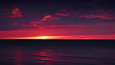 Calm sea. Sunset Footage
