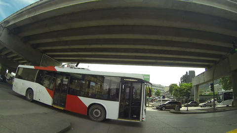 Panama City, Panama - Nov 4: Metro Bus Is The New  stock footage
