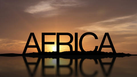 Africa Sunset Timelapse stock footage