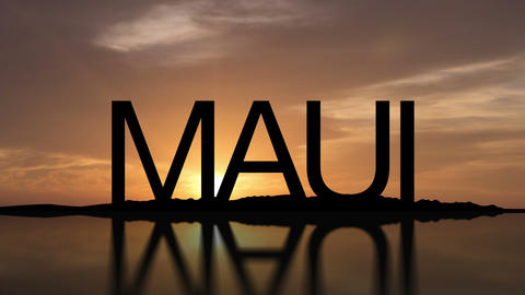 Maui Sunset stock footage