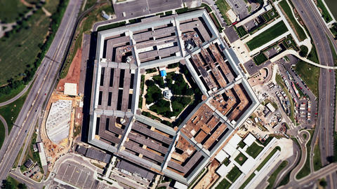 Satellite Zoom Into U.S. Pentagon (60fps) stock footage