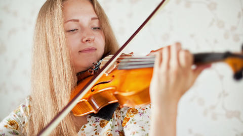 Violinist, Teenager playing the violin Footage